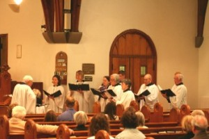 The choir singing for Easter,