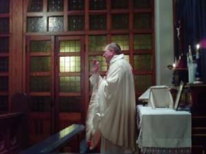 Canon Hinton, in the Chapel.